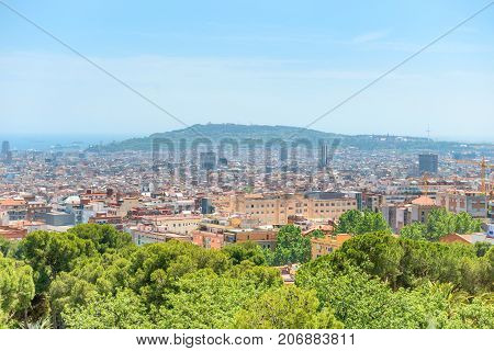 Panoramic View Of City Of Barcelona