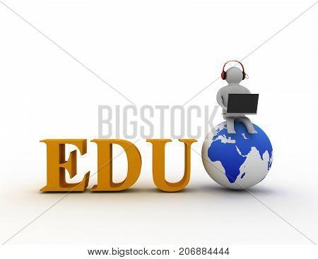 3d education concept . 3d rendered illustration