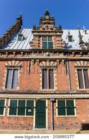 HAARLEM, NETHERLANDS - SEPTEMBER 03, 2017: Side view of the Museum of Archeology in Haarlem Netherlands