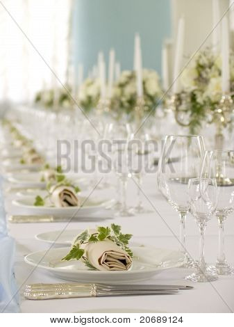 beautiful served table