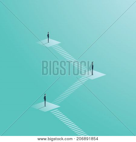 Corporate ladder or organizational chart in company structure vector concept. Business symbol of management, hierarchy and leadership. Eps10 vector illustration.