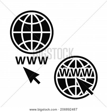Web Icons set, Network sign, template design element, Vector illustration