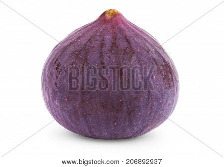 Fig isolated on white background. Isolated, Closeup, Fresh, Detail, Leaf, Close, Healthy,