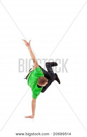 Hip Hop Breakdancer Performing