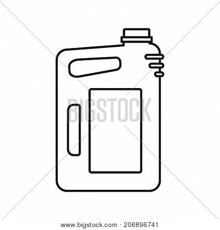 Canister of gasoline icon. Black outline illustration of Canister of gasoline vector icon for web isolated on white background