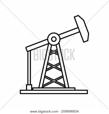 Oil refinery icon. Black outline illustration of Oil refinery vector icon for web isolated on white background