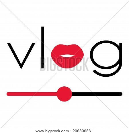 Vlog Video Blogging Logo