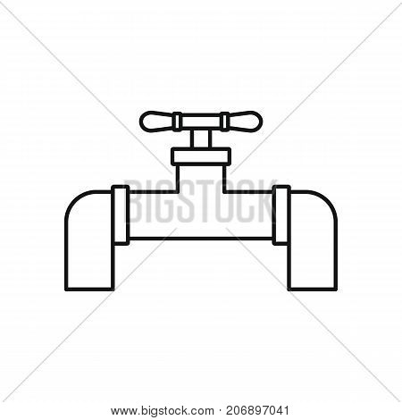 Gas pipeline icon. Black outline illustration of Gas pipeline vector icon for web isolated on white background