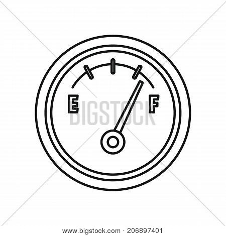 Fuel meter icon. Black outline illustration of Fuel meter vector icon for web isolated on white background