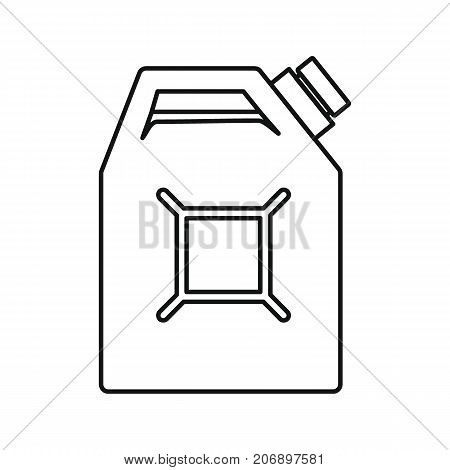 Canister of petrol icon. Black outline illustration of Canister of petrol vector icon for web isolated on white background