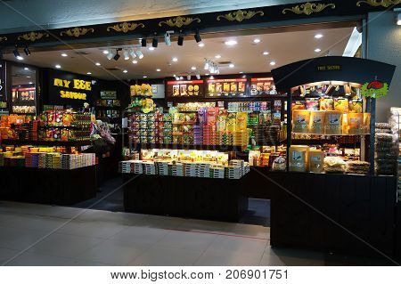 Souvenir Shop Inside The Kota Kinabalu International Airport