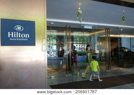 Hilton Hotel Kinabalu Located At Kota Kinabalu