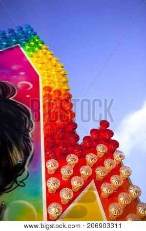 Colorful Facade Of A Ride