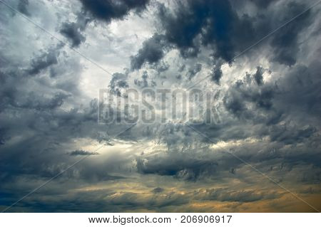 Amazing sky and dark moody storm cloud
