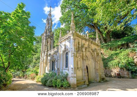 The gothic Chapel of Holy Trinity, in Portuguese Capela da Santissima Trindade in Sintra, Lisbon District, Portugal.