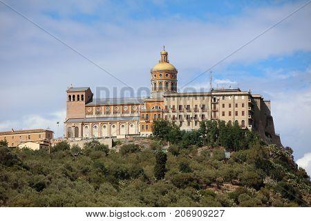 The Sanctuary of Tindari in Sicily. Italy