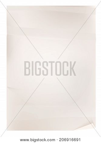 Vector vintage paper isolated on white background