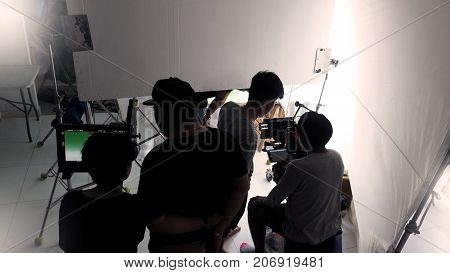 Behind The Tv Commercial Video Shooting.