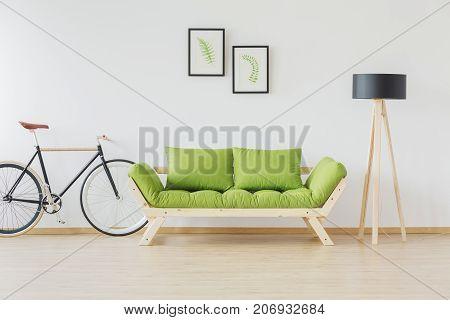 Hipster Bike And Minimalist Furniture