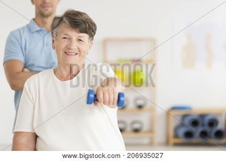 Woman Doing Isometric Exercises