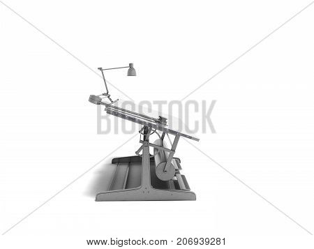 Electronic Multimedia Culmination For Drawing On The Left 3D Render On A White Background