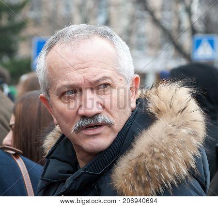 KIEV (KYIV) UKRAINE -March 22 2016:Ukrainian politician Viktor Pynzenyk