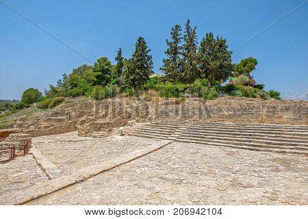 Phaistos palace archaeological site on Crete. Greece