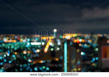 Cityscape bokeh Blurred Photo cityscape at twilight time