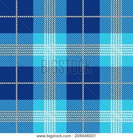 Seamless tartan pattern background plaid. Christmas decoration, scottish ornament. Flat style design vector illustration