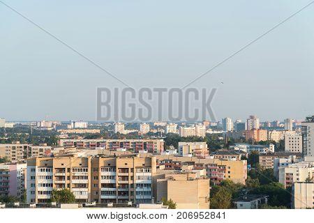 City from Bird's Perspective. Minsk Repablic of Belarus.