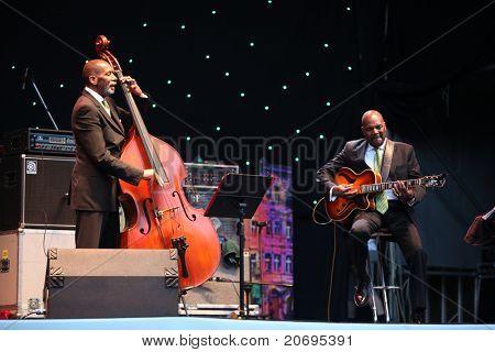 LVIL, UKRAINE - JUNE 3: Ron Carter Trio in concert during Alfa Jazz Festival on June 3, 2011 in Lviv, Ukraine.