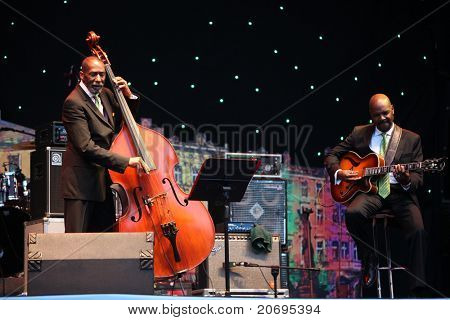 LVIL, UKRAINE - JUNE 3: Ron Carter Trio in concert during Alfa Jazz Festival on June 3, 2011 in Lviv, Ukraine.