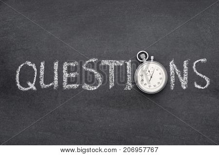 Questions Word Watch