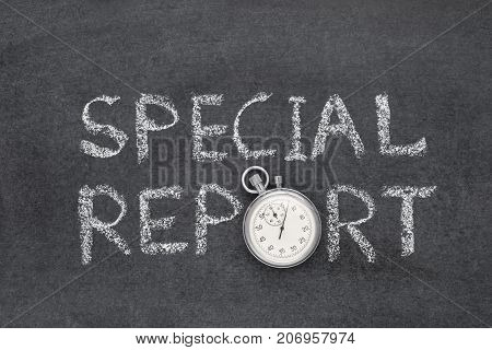 Special Report Watch
