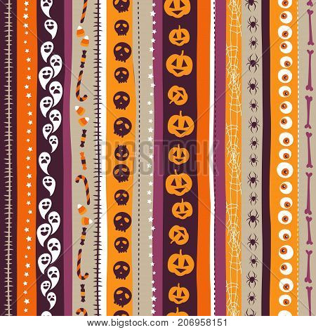 Orange, White And Pirple Seamless Background Abstract Striped Pa