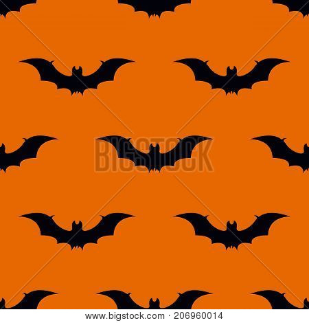 Bat halloween seamless pattern. Bat seamless pattern. Vector stock.