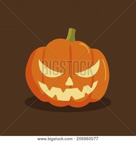 Pumpkin halloween cartoon style. Pumpkin isolated on background. Vector stock.