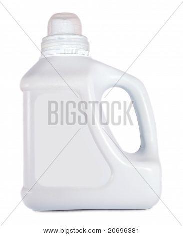 White Empty Plastic Container For Liquid