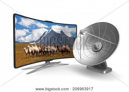 TV on white background. Isolated 3D illustration