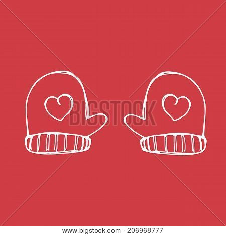 Mittens vector sketch icon isolated on white background. Hand drawn mittens icon. Mittens sketch icon for infographic, website or app