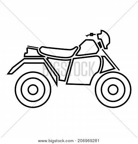 Atv Motorcycle On Four Wheels It Is Black Icon .