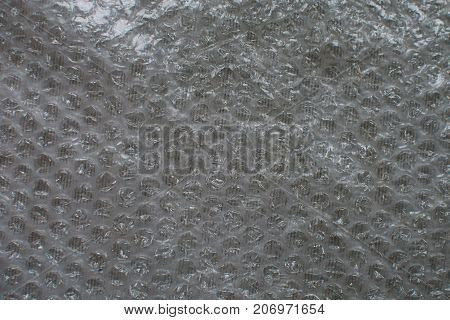 close up on bubble film texture or background