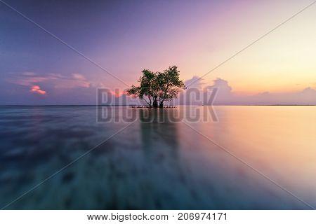 Glowing Sunrise at Pari Island, Jakarta, Indonesia
