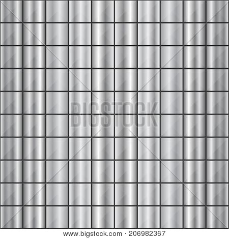 Seamless Square Shaped Steel Studded Pattern Background