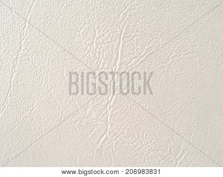close up crease of white leather texture background
