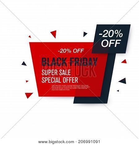 Black friday sale label. Stock vector eps10. Weekend sale banner, special offer