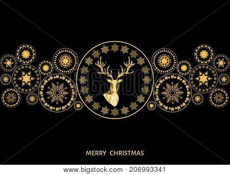 Christmas  And  New Year Golden  Decoration.