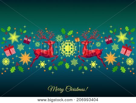 Christmas Colorful  Vector Decoration.