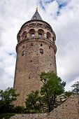 The Galata Tower was built in 528 ad by Byzantium emperor Justinianus. 61 meter tall 8.95 m. diameter and wall thickness of 3.75 meters. poster