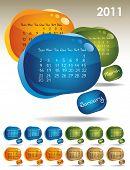 calendar for 2011 poster